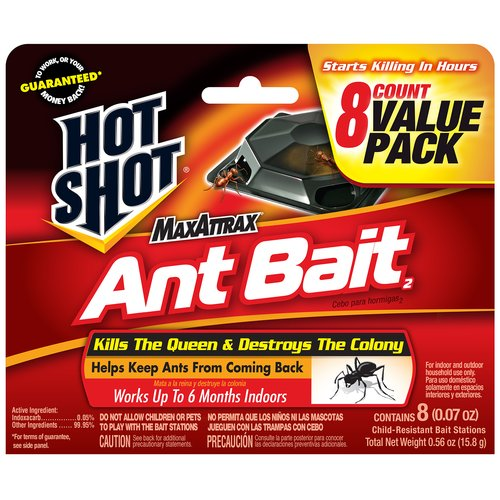Hot Shot(r) MaxAttrax(r) Ant Bait Child-Resistant Bait Stations, 0.07 oz, 8 count