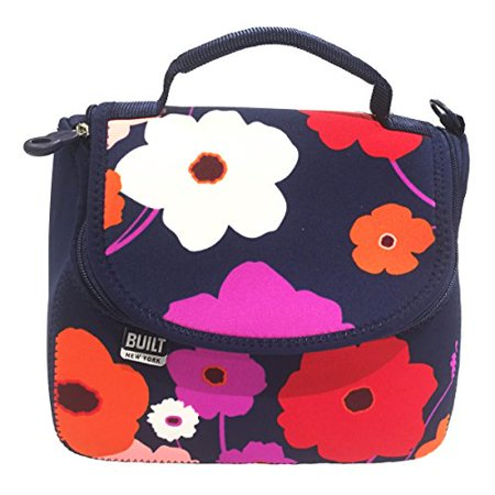 Built Ny Bistro Neoprene Crossbody Lunch Bag Lush Flower Blue