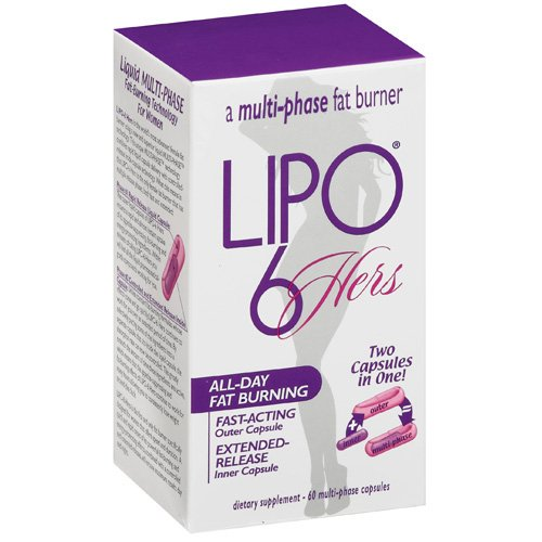 Lipo 6 Hers Multi-Phase Fat Burner, 60ct