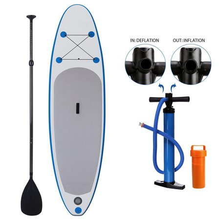 Hifashion The Newest 10ft Inflatable Stand Up Paddle Board iSUP with Adjustable Paddle Backpack Hand Pump