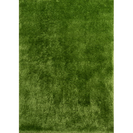 Designer Home Motif Area Rugs - 2300 00124 Shag & Flokati Green Thick Soft Plush Comfortable Rug ()
