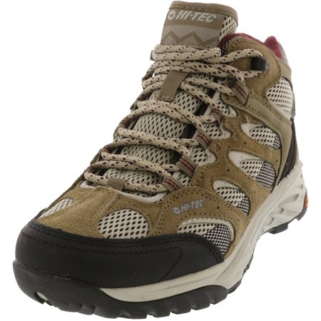 Hi-Tec Women's Wild-Fire Mid I Water Proof Taupe / Warm Grey Grape Wine Ankle-High Hiking Boot - 8.5M Grey Hiking Boots