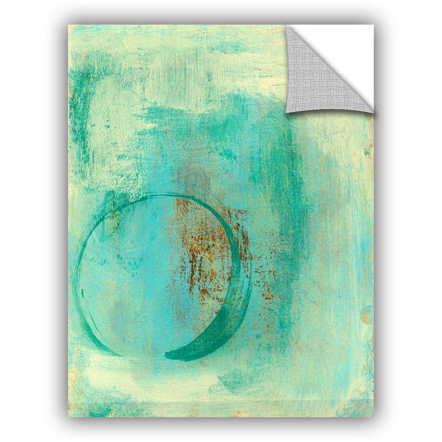 "ArtWall Elena Ray ""Teal Enso"" Art Appeals Removable Wall Art"