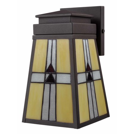 "Image of ""Dale Tiffany STW16138 Mica Black 1 Light 10-1/2"""" High Outdoor Wall Sconce"""