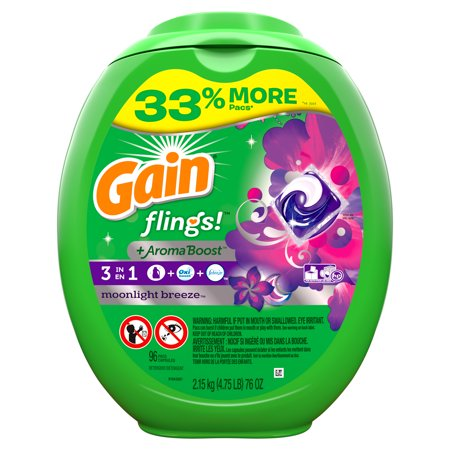 Gain flings! Moonlight Breeze Liquid Laundry Detergent Pacs - 96ct