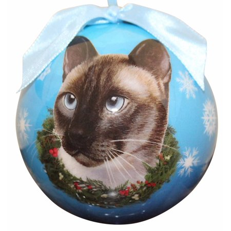 Siamese Cat Christmas Ornament Shatter Proof Ball Easy To Personalize A Perfect Gift For Siamese Cat Lovers, High quality shatter-proof ornament By E&S Pets