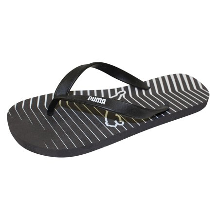 be2d8a5b306af7 PUMA - Puma Men s Geometric Footbed Fashion Black White Grey Flip Flop  Sandals Shoes - Walmart.com