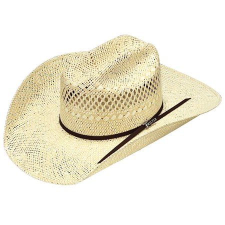 Twister T71617-7 4.25 in. SS & SS 2 Cord Chocolate Band Weave Hat - Size 7 - image 1 of 1