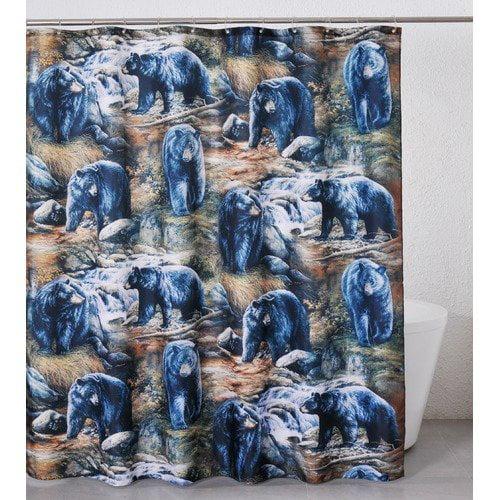 Casa Bella 2004 Black Bears Shower Curtain