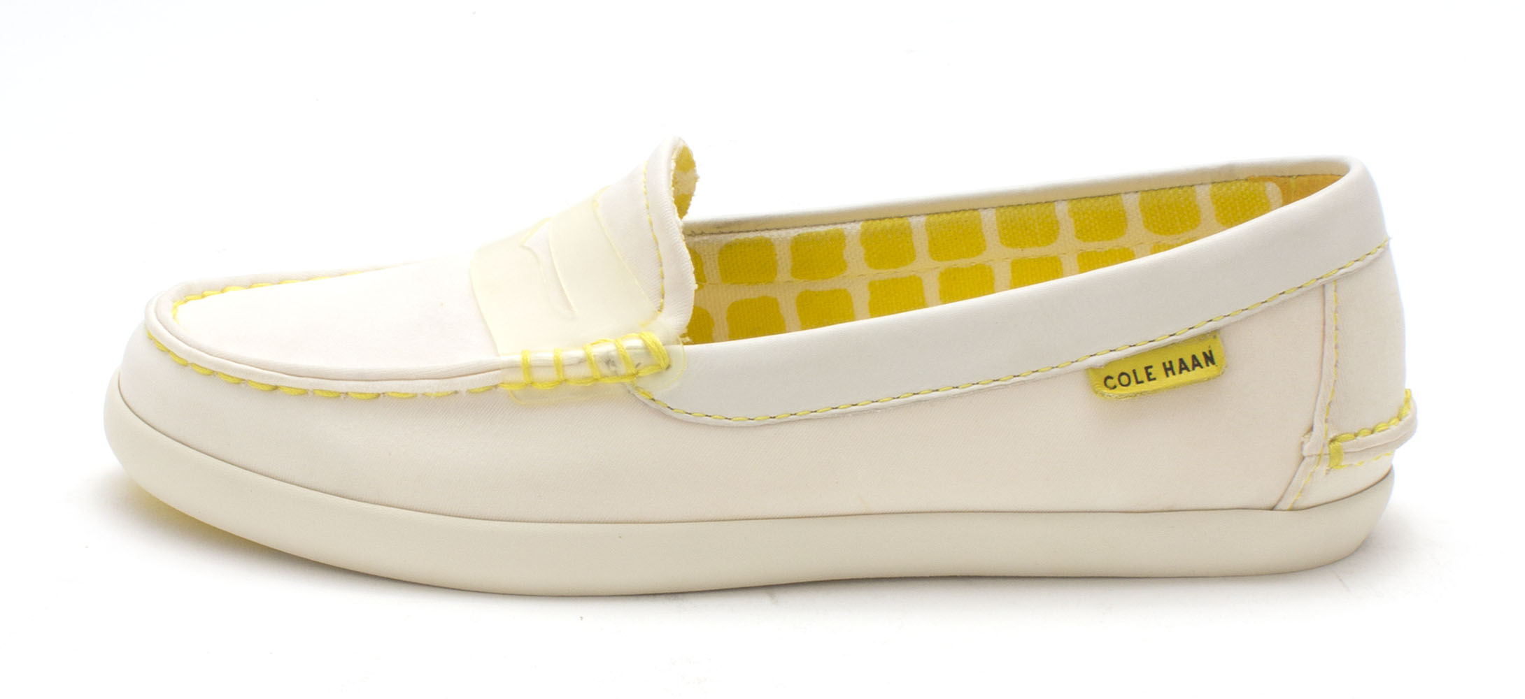Cole Haan Womens D43787 Closed Toe Loafers, Optic White/Clear, Size 6.0