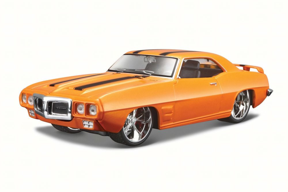 1969 Pontiac Firebird, Orange Maisto 31040 1 24 Scale Diecast Model Toy Car by Maisto