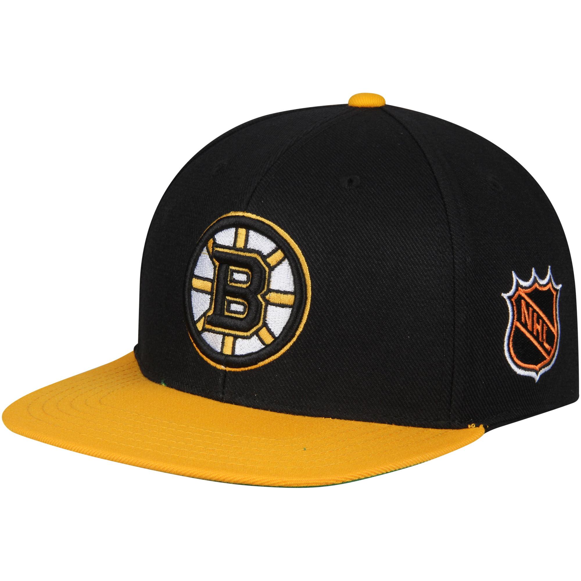 Boston Bruins American Needle Blockhead Snapback Adjustable Hat - Black/Gold - OSFA