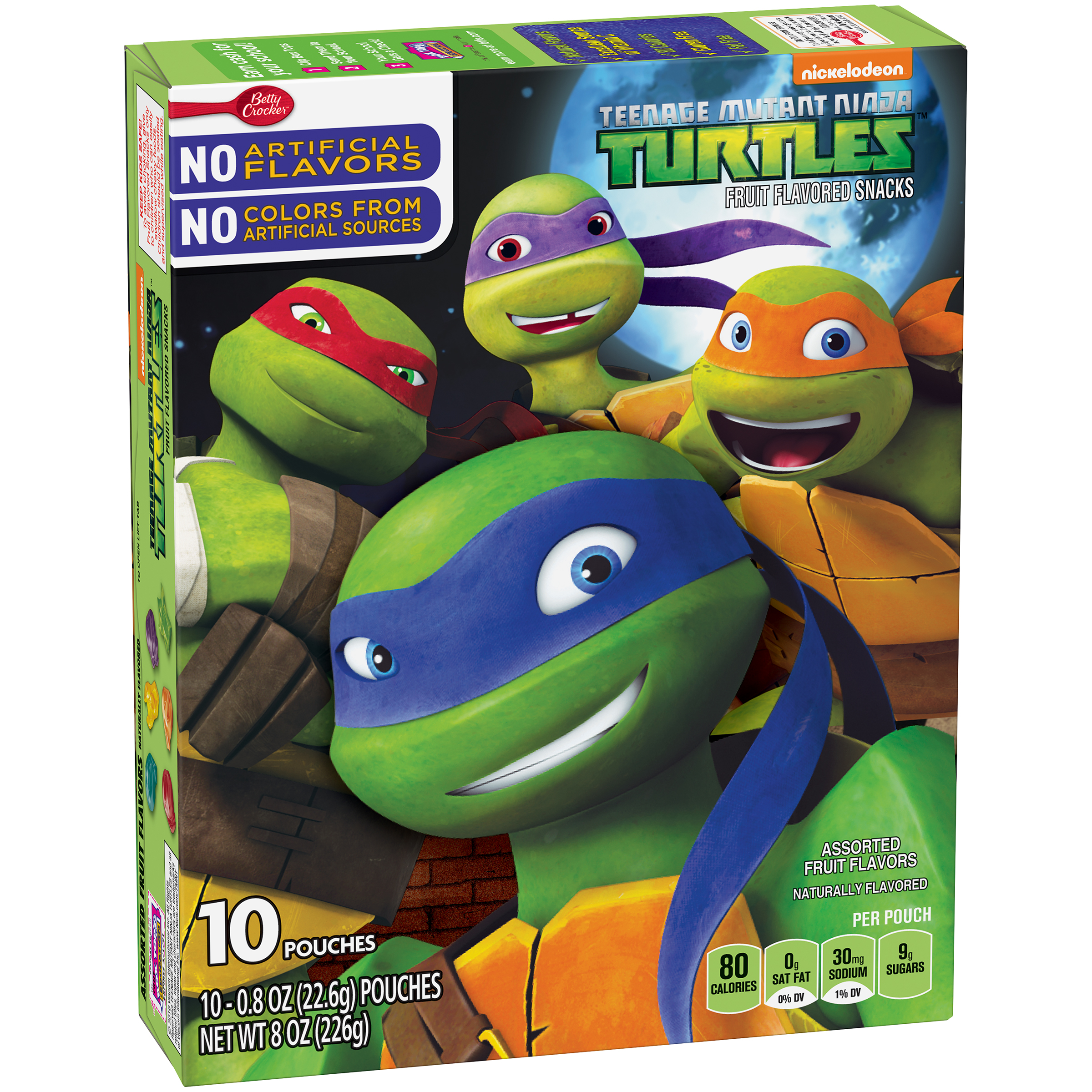Betty Crocker�� Teenage Mutant Ninja Turtles Fruit Flavored Snacks Assorted Flavors 10 - 0.8 oz Pouches