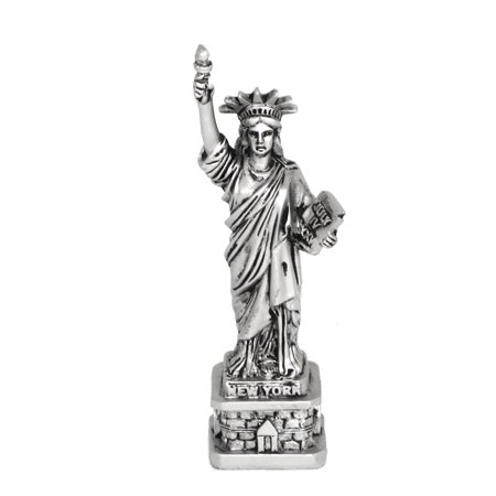 Silver 4 Inch Statue of Liberty - Statue Of Liberty Flame
