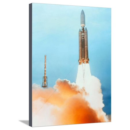 Titan Rocket - Launch of a Titan IV Rocket Stretched Canvas Print Wall Art By Lockheed Martin