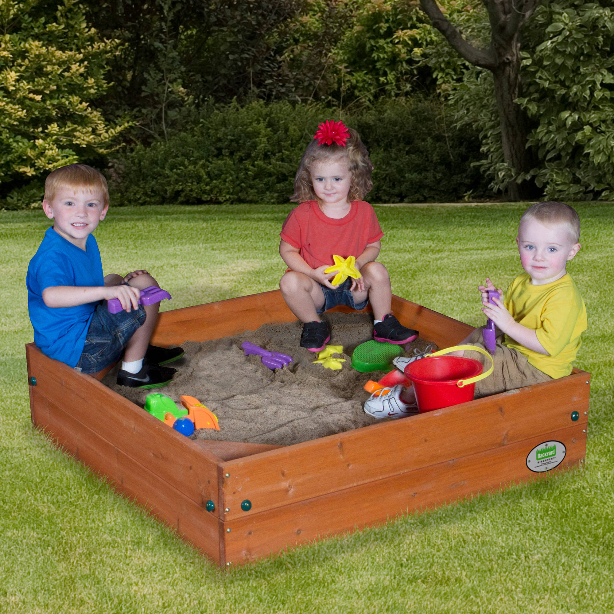 Backyard Discovery Wooden Sand Box