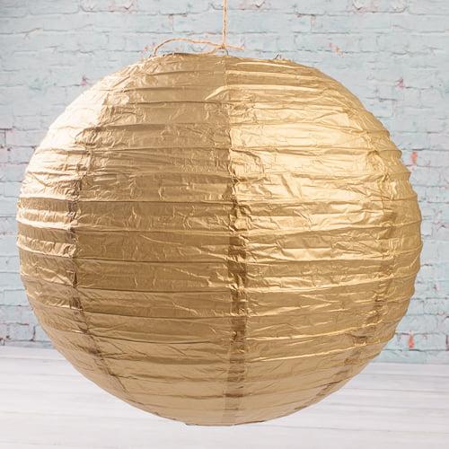 "Richland Paper Lanterns Round Chinese White  16"" Set of 10"