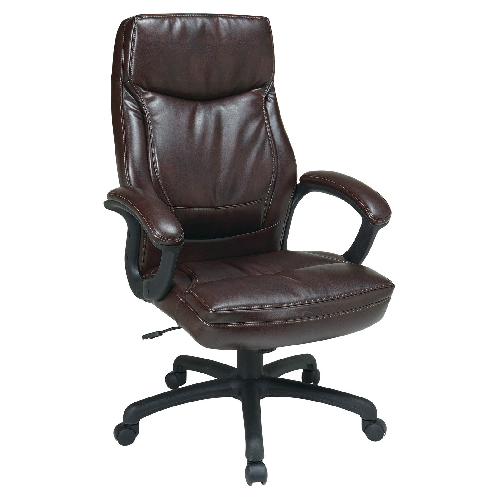 Office Star Products Work Smart Executive High Back Eco Leather Chair