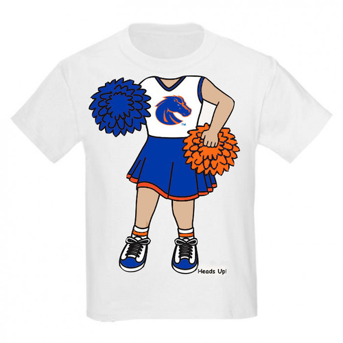 Boise State Bronco Heads Up! Cheerleader Infant/Toddler T-Shirt