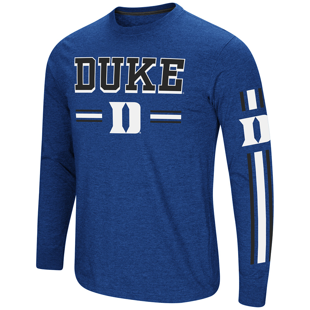 Colosseum NCAA Men's Touchdown Pass Long Sleeve Tee, Many Colleges Available
