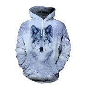Unisex Mens Womens Animal Graphic Hoodie Sweater Sweatshirt Pullover Tops Coat Jacket