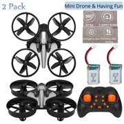 2Pcs Mini Nano Drone - RC Quadcopter Nano Drone Great Gift/Toys for Kids Boys and Girls, RC Helicopter Plane Toys with Auto Hovering, 3D Flip, Support Headless Mode, One Key Return