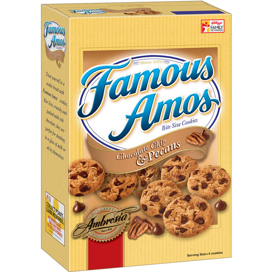 Famous Amos Bite Size Chocolate Chip & Pecans Cookies, 12.4 oz