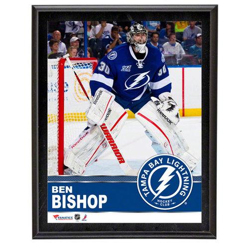 NHL - Ben Bishop Sublimated 10x13 Plaque   Details: Tampa Bay Lightning