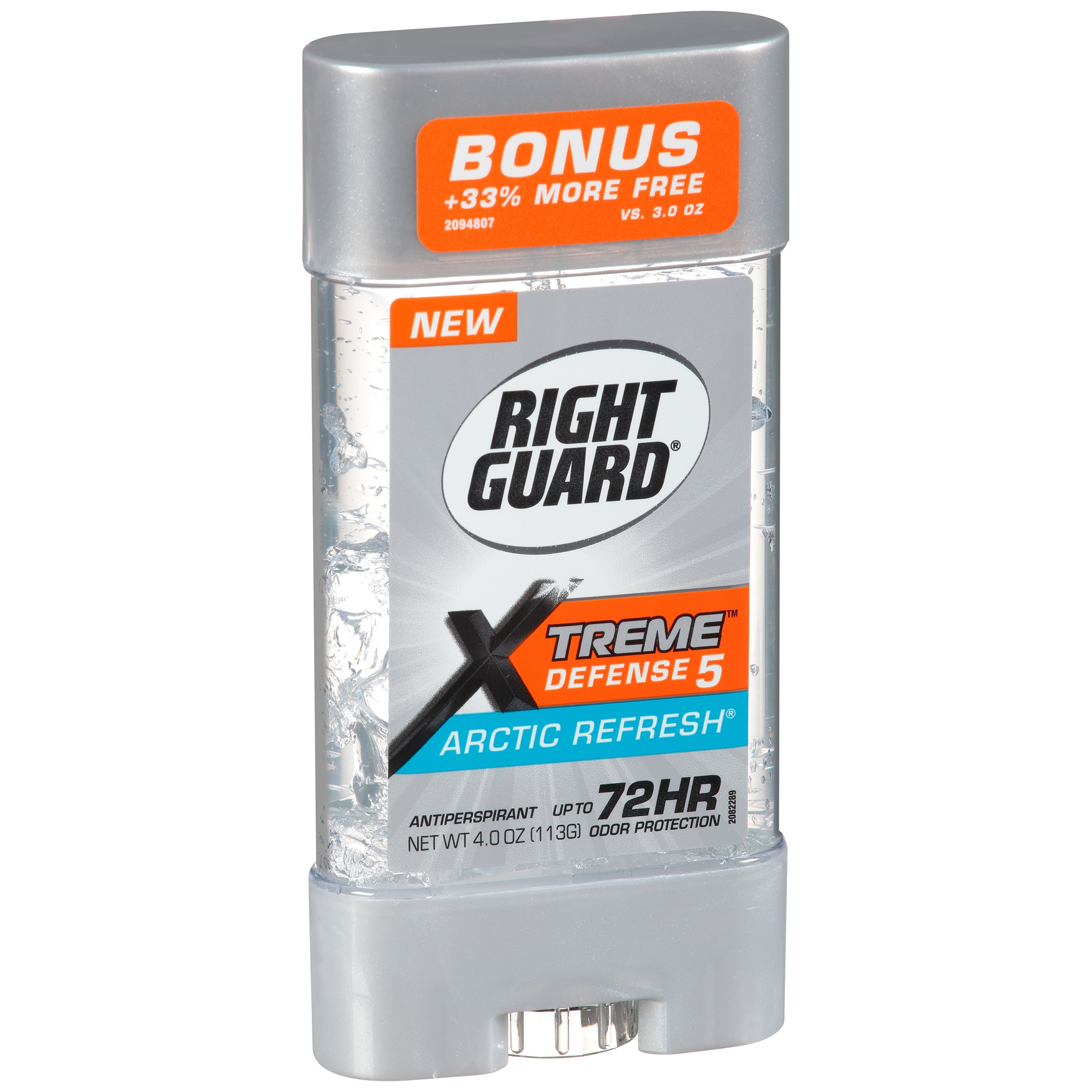 Right Guard Xtreme Defense 5 Antiperspirant Deodorant Gel, Arctic Refresh, 4 Ounce