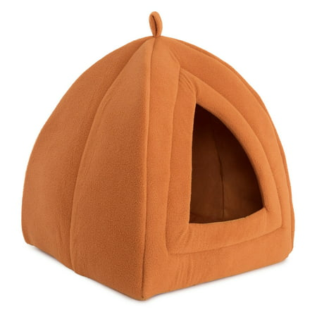 Cozy Kitty Tent Igloo Plush Cat Bed - Heated Kitty Cat Bed