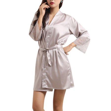 Babula - Babula Women Silk Satin Bathrobe Gown Lingerie Kimono Robe  Sleepwear - Walmart.com 8cf99e5e2