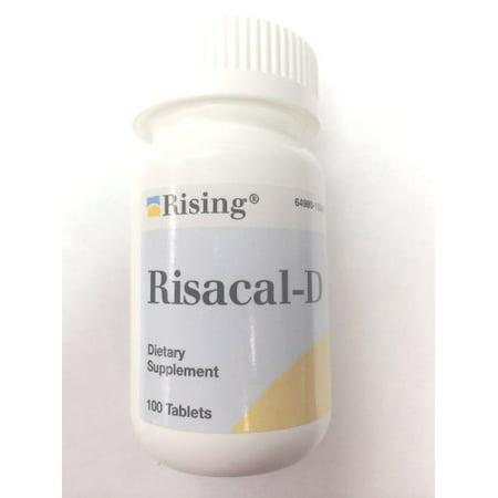 Risacal-d Vitamin D & Calcium Supplement 100 Tablets - image 1 de 1