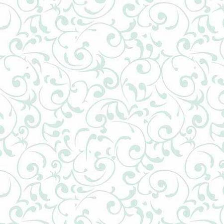 "Con-Tact Brand Non-Adhesive Luxury Fabric Liner, Virtu Mist, 18"" x 4"