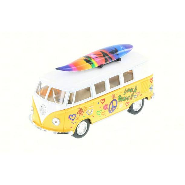 1962 Volkswagen Classic Bus W/ Surfboard & Decals, Yellow