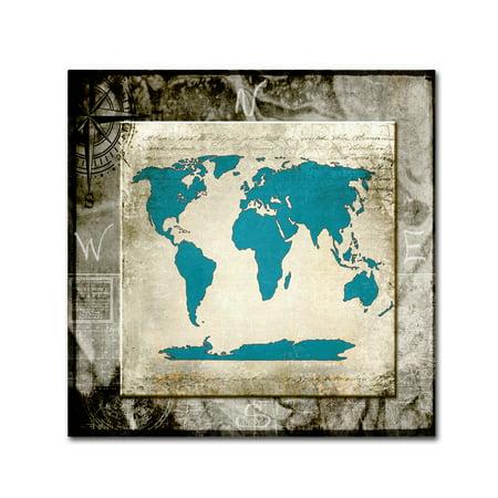 Trademark Fine Art Sea Map Ii Canvas Art By Lightboxjournal