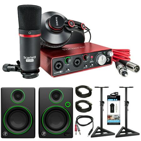 focusrite scarlett 2i2 studio usb audio interface recording bundle 2nd gen mackie cr. Black Bedroom Furniture Sets. Home Design Ideas
