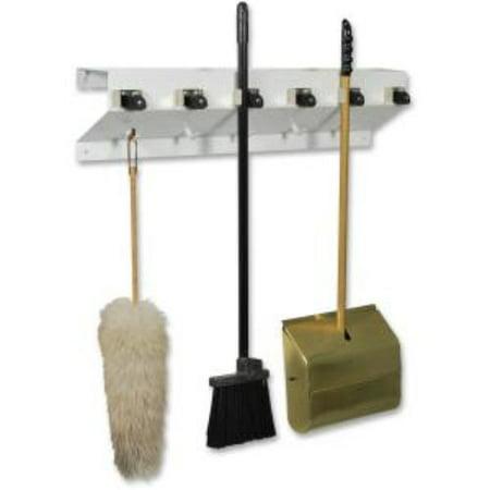 Ex-cell Kaiser Clincher 333-6 Wht2 Glossy Mop & Broom Holder - 7.5