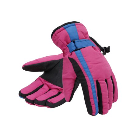 Protective Snowboard Gloves - Women 3M Thinsulate Lined Waterproof Snowboard / Ski Gloves,M,Pink Blue