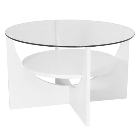 U Shaped Contemporary Coffee Table in White by LumiSource