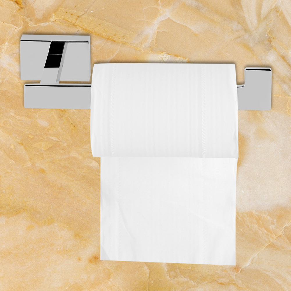 Dilwe Bathroom Bathhouse Washroom Toilet Paper Holder Storage Towel Rack Chrome Plated Accessory, Bathroom Tool,... by