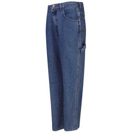 (Red Kap PD80SW 38 34 Stonewash Loose Fit Dungaree Jeans, Size38x34 In)