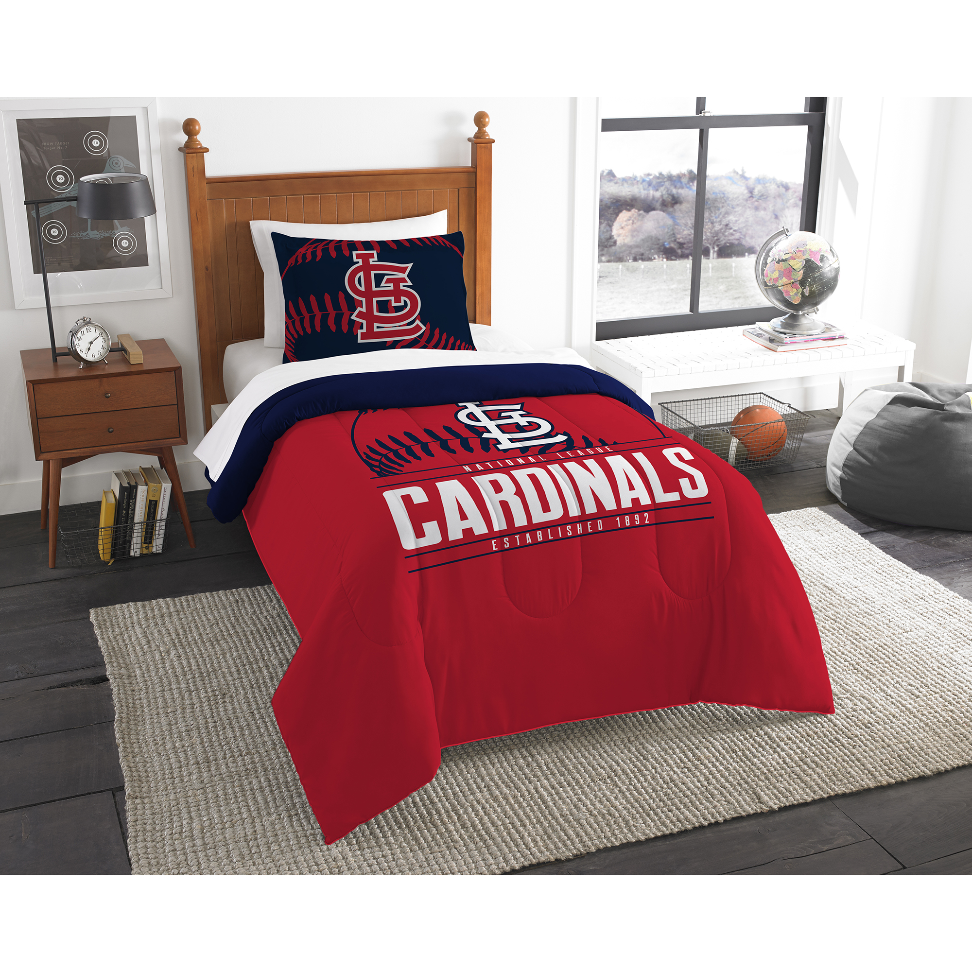 St. Louis Cardinals The Northwest Company Grand Slam Twin Comforter Set - No Size