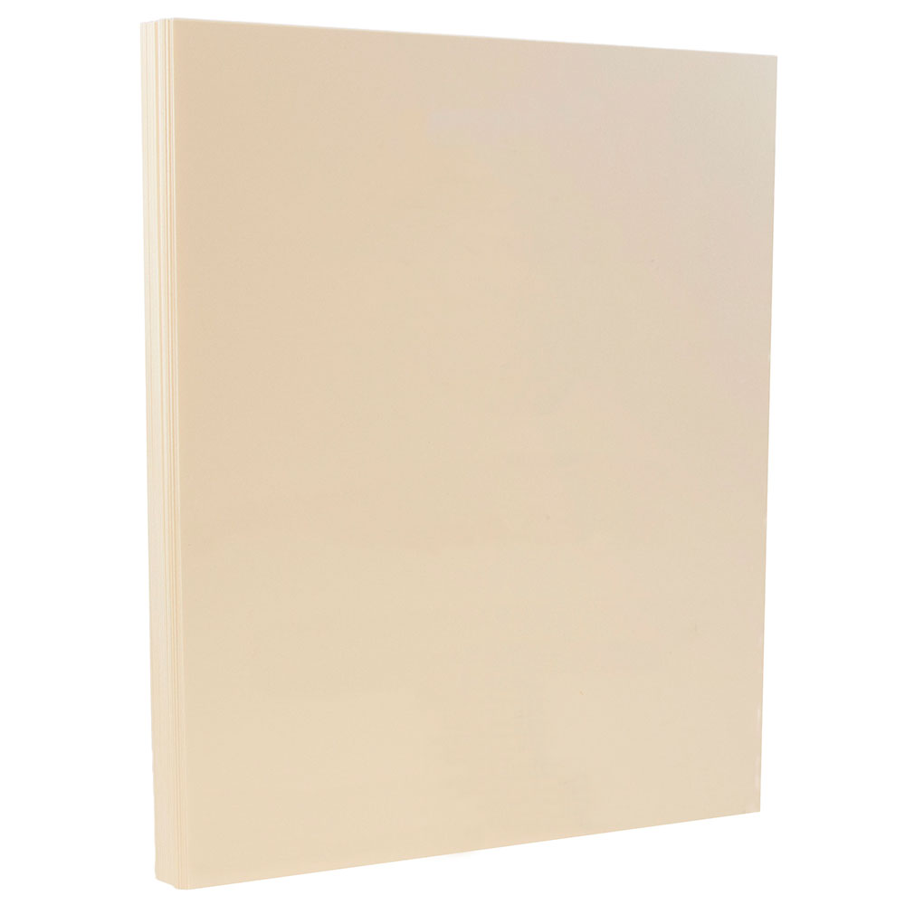 "JAM Paper Premium Index Cardstock - 8.5"" x 11"" - 110lb Ivory - 50 Sheets/Pack - image 1 of 2"