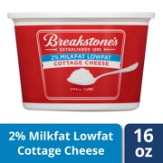 Breakstone's Small Curd 2% Milkfat Lowfat Cottage Cheese, 16 oz Tub
