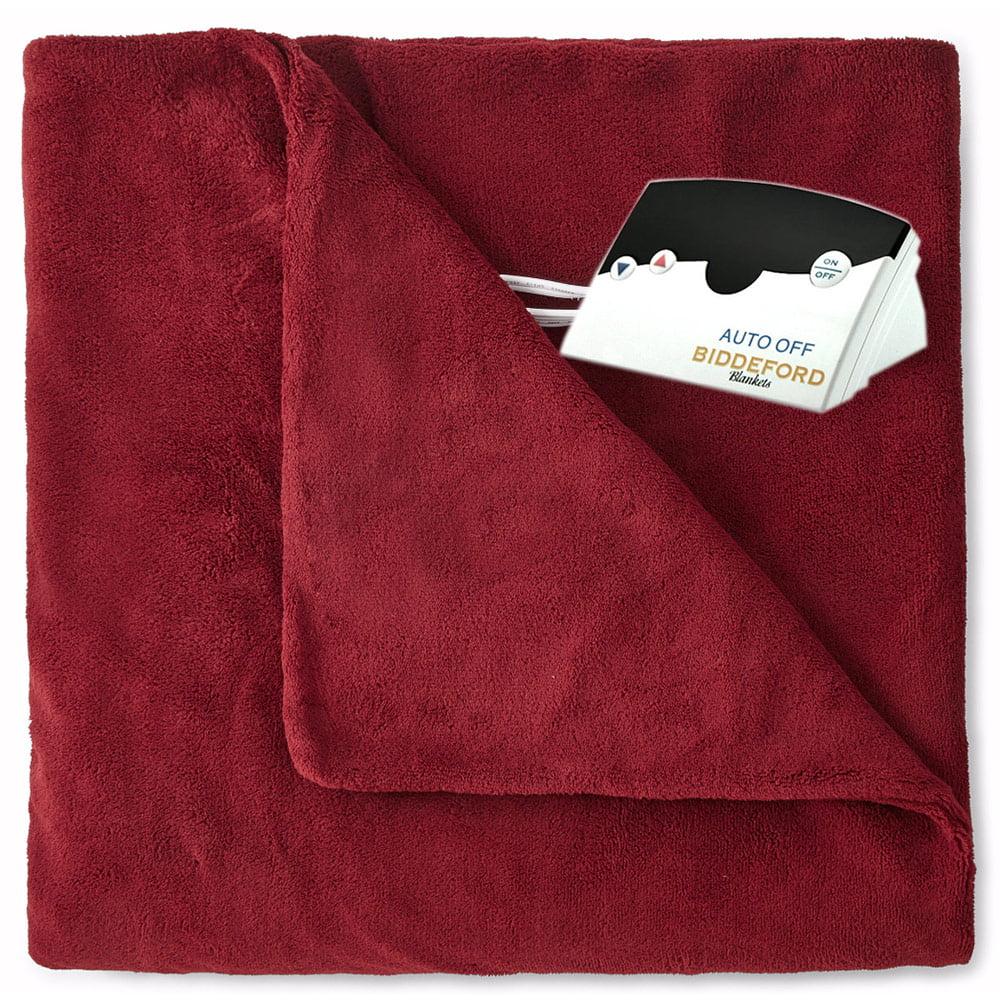 Biddeford Luxurious MicroPlush Electric Heated Blanket Twin Full Queen King