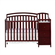 Dream On Me Casco 4-in-1 Mini Crib and Dressing Table, Cherry