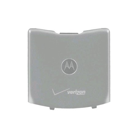 OEM Motorola RAZR V3m Standard Battery Door / Cover - Silver (Bulk Packaging)