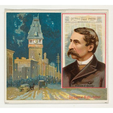 William E Quinby Detroit Free Press From The American Editors Series  N35  For Allen   Ginter Cigarettes Poster Print  18 X 24