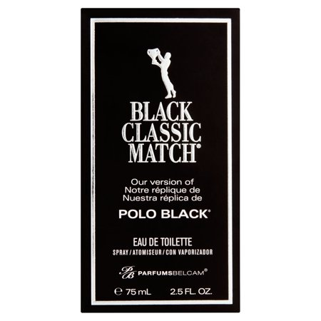Parfums Belcam Black Classic Match For Men Eau De Toilette Spray  2 5 Fl Oz