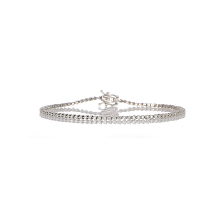 Imperial 1Ct TDW Diamond 10K White Gold Tennis Bracelet (H-I, I2)
